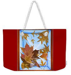 Splattered Leaves Weekender Tote Bag