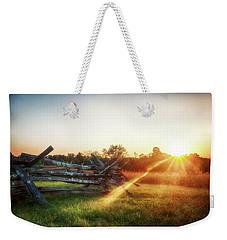 Split-rail Sunset Weekender Tote Bag