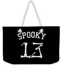 Spooky 13 Halloween Jersey Weekender Tote Bag