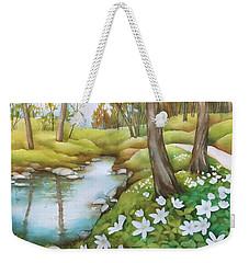 Spring At Creek Weekender Tote Bag