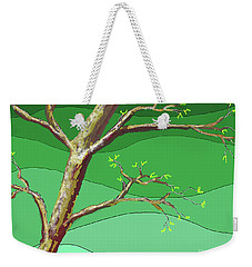 Weekender Tote Bag featuring the digital art Spring Errupts In Green by James Fannin