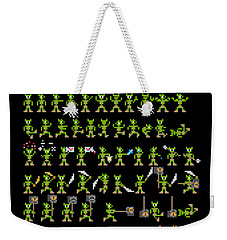 Weekender Tote Bag featuring the digital art Sprite Sheet 1 by Bfm