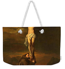 St Francis At The Foot Of The Cross Weekender Tote Bag