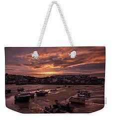 St Ives Cornwall - Harbour Sunset Weekender Tote Bag