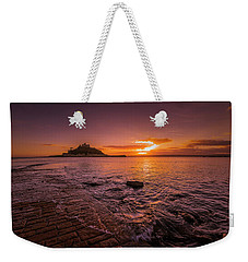 St Michael's Mount - January Sunset Weekender Tote Bag