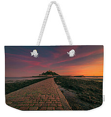 St Michael's Mount Sunset Weekender Tote Bag
