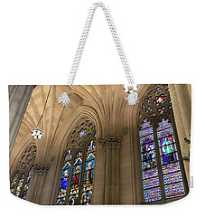St Patricks Stained Glass Weekender Tote Bag