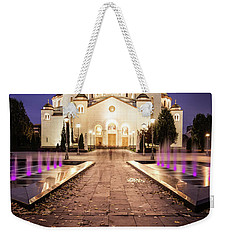St. Sava Temple In Belgrade Nightscape Weekender Tote Bag