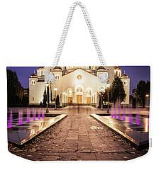 St. Sava Temple In Belgrade Nightscape Weekender Tote Bag