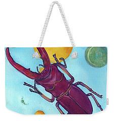 Stag Beetle In Space Weekender Tote Bag