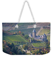 Stahleck Castle And Vineyards In Germany Weekender Tote Bag