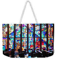 Stained Glass Historical Our Lady Of Czestechowa Shrine Weekender Tote Bag