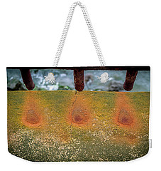 Weekender Tote Bag featuring the photograph Stains by Steve Stanger