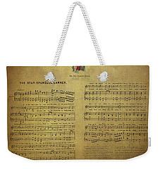 Star Spangled Banner Vintage Sheet Music Weekender Tote Bag