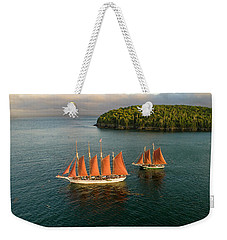 Weekender Tote Bag featuring the photograph Stay The Course  by Michael Hughes
