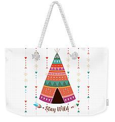 Stay Wild - Boho Chic Ethnic Nursery Art Poster Print Weekender Tote Bag