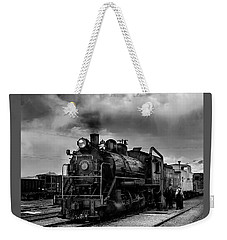 Steam Locomotive In Black And White 1 Weekender Tote Bag