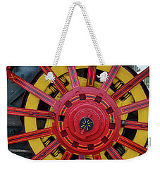 Weekender Tote Bag featuring the photograph Steele Power Wheel by Mark Dodd