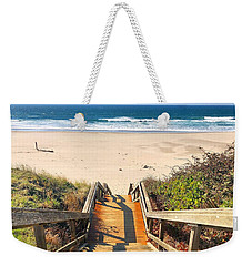 Weekender Tote Bag featuring the photograph Steps To The Beach by Brian Eberly