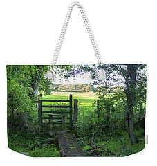 Stile Between Fields In Britain Weekender Tote Bag