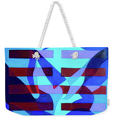 Weekender Tote Bag featuring the painting Still Point by Denise Weaver Ross