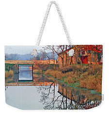 Still Waters On The Canal Weekender Tote Bag
