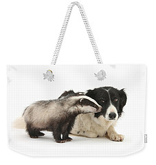 Weekender Tote Bag featuring the photograph Stop Badgering Me by Warren Photographic