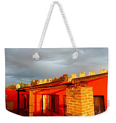 Weekender Tote Bag featuring the photograph Storm Brewing, Sun Setting by Rosanne Licciardi