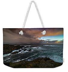 Storm Coastline Weekender Tote Bag