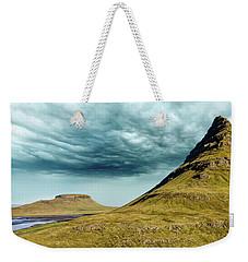 Stormy Church Mountain Weekender Tote Bag