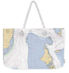 Straits Of Florida, Eastern Part Noaa Nautical Chart Weekender Tote Bag