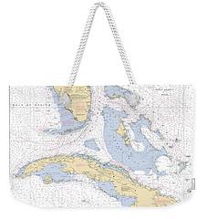 Straits Of Florida Nautical Chart 11013 Weekender Tote Bag