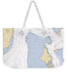 Straits Of Florids, Eastern Part Noaa Chart 4149 Edited. Weekender Tote Bag