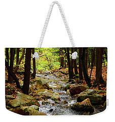 Weekender Tote Bag featuring the photograph Stream Rages Vertical Format by Raymond Salani III
