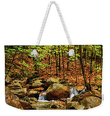 Weekender Tote Bag featuring the photograph Stream Rages In Ma by Raymond Salani III