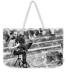 Street Musician In Florence Weekender Tote Bag