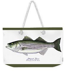 Striped Bass Weekender Tote Bag