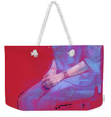 Study In Red Weekender Tote Bag