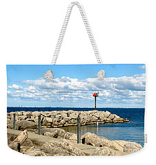 Weekender Tote Bag featuring the photograph Sturgeon Point Marina On Lake Erie by Rose Santuci-Sofranko