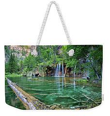 Weekender Tote Bag featuring the pastel Submerged Log, Hanging Lake Colorado by Nathan Bush