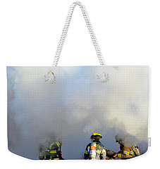 Weekender Tote Bag featuring the photograph Suit Up by Carl Young