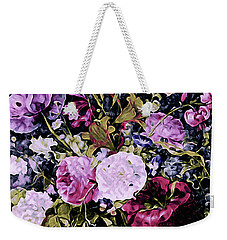 Weekender Tote Bag featuring the mixed media Summer Bouquet by Susan Maxwell Schmidt
