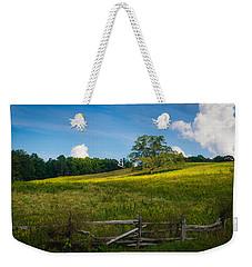 Blue Ridge Parkway - Summer Fields Of Yellow - Lone Tree Weekender Tote Bag