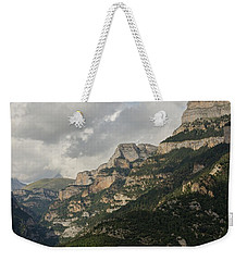 Weekender Tote Bag featuring the photograph Summer In The Anisclo Canyon by Stephen Taylor