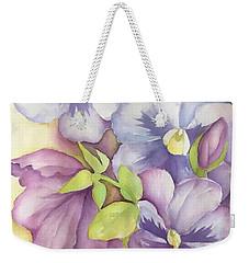 Summer Pansies Weekender Tote Bag