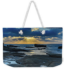 Sun Rays Burst Through The Clouds - Seascape Weekender Tote Bag