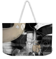 Sunday Morning Large Modern Black And White Abstract Painting Weekender Tote Bag