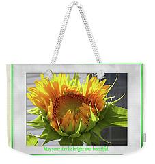 Sunflower Birthday Weekender Tote Bag
