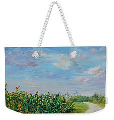Sunflower Field Ptg Weekender Tote Bag