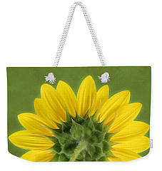 Weekender Tote Bag featuring the photograph Sunflower Sunrise - Botanical Art by Debi Dalio